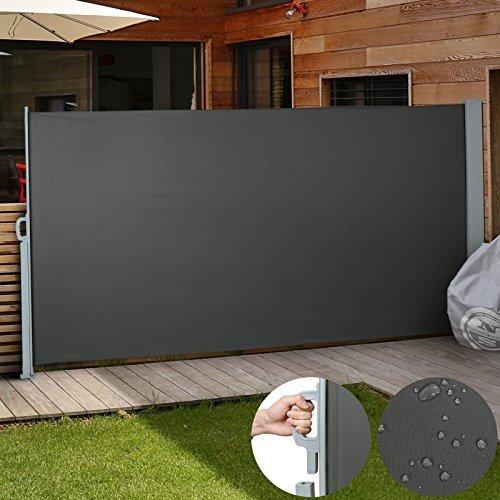 Jago Seitenmarkise zum Schutz, 180 x 300 cm, anthrazit