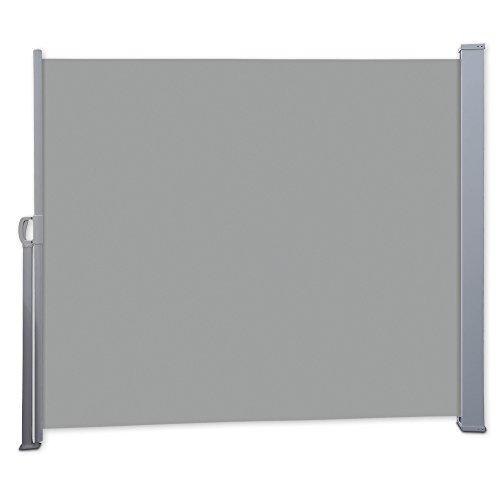 Nemaxx SCA180 Seitenmarkise 180x300 cm - idealer Windschutz Sonnenschutz Sichtschutz - Markise grau - nach DIN EN13561