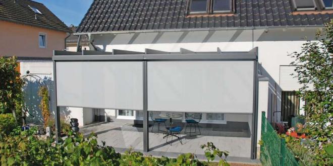 Gut geschützt auf der Terrasse